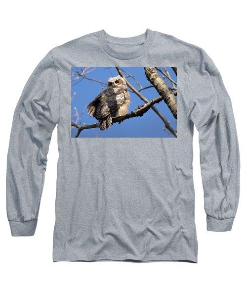 Great Horned Owlet 42915 Long Sleeve T-Shirt