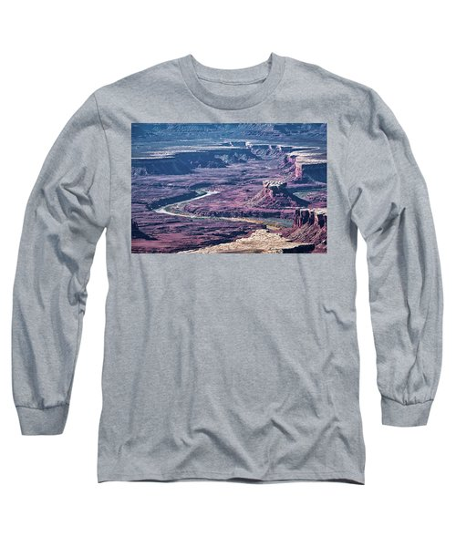 Long Sleeve T-Shirt featuring the photograph Green River Moonscape by Andy Crawford