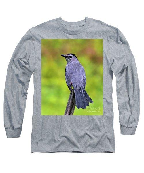 Grey Catbird Long Sleeve T-Shirt