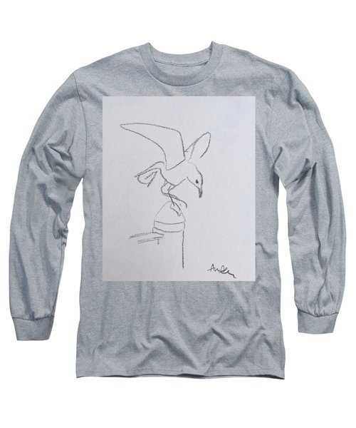 Gull On Pier Long Sleeve T-Shirt