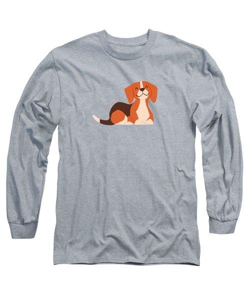 Happy Beagles Make A House A Home Long Sleeve T-Shirt