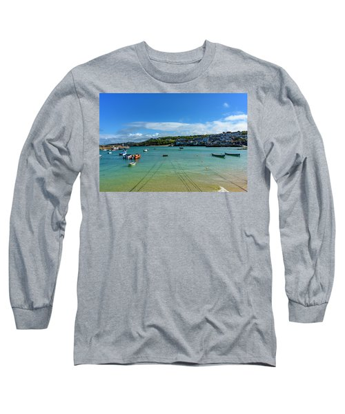 Harbour To Porthminster St Ives Cornwall Long Sleeve T-Shirt