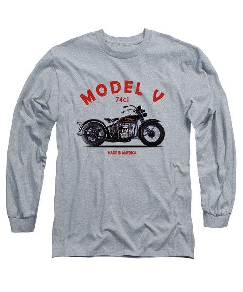 Harley-davidson Model V 1930 Long Sleeve T-Shirt