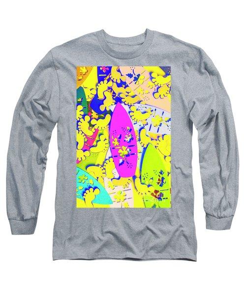 Hawaiian Design Long Sleeve T-Shirt