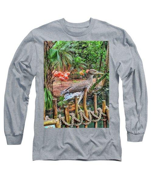 Heron On Guard Long Sleeve T-Shirt