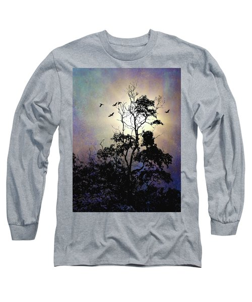 Herons At Dusk Long Sleeve T-Shirt
