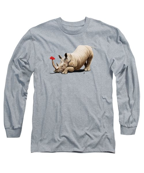 Horny Wordless Long Sleeve T-Shirt