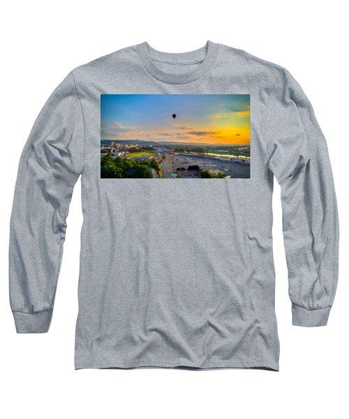 Hot Air Ballon Sunset Long Sleeve T-Shirt