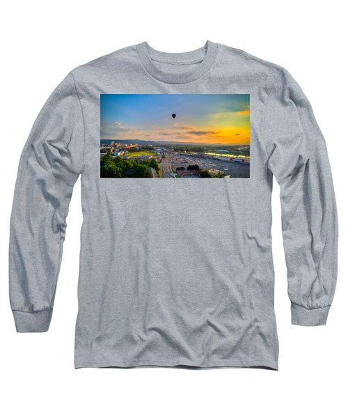 Hot Air Ballon Sunset Long Sleeve T-Shirt