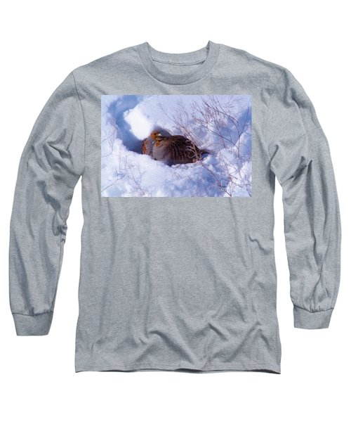 Hunkering Grouse Long Sleeve T-Shirt