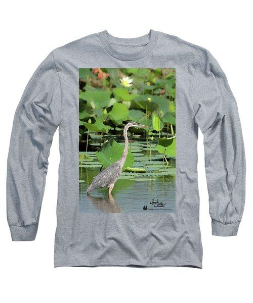 Hunting Among The Lotus Long Sleeve T-Shirt