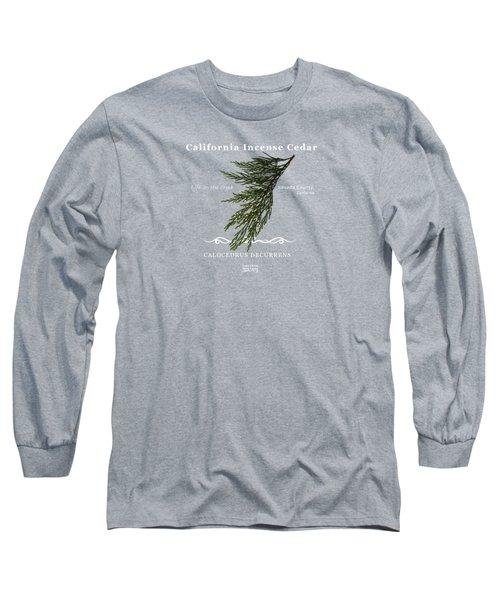 Incense Cedar - White Text Long Sleeve T-Shirt