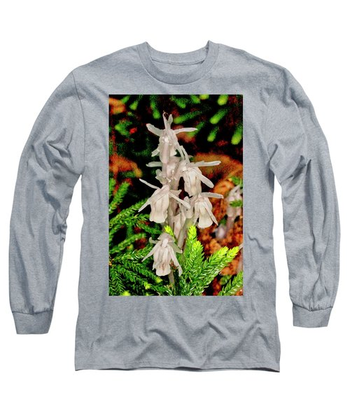 Indian Pipes On Club Moss Long Sleeve T-Shirt