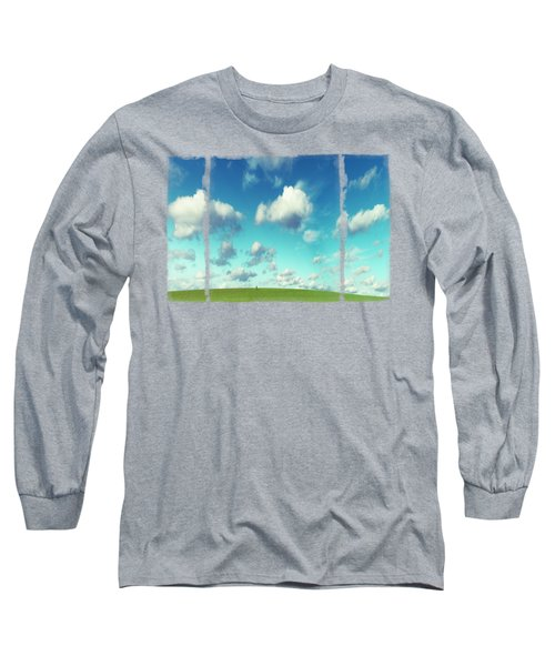 Infinity - Green Land And Summer Sky Long Sleeve T-Shirt