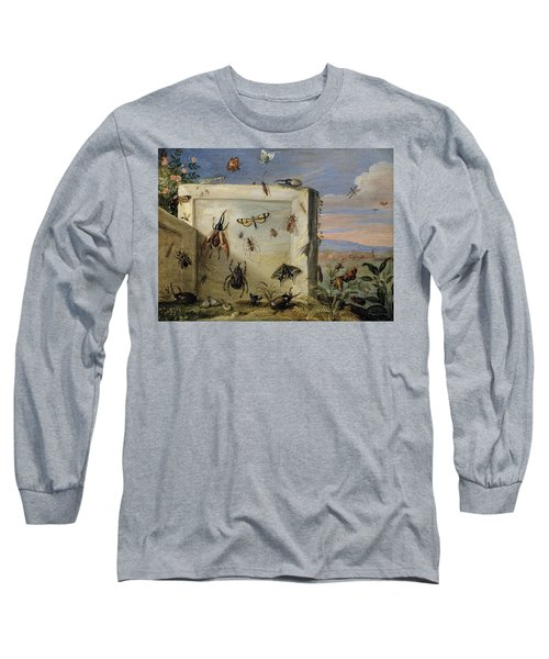 Insects On A Stone Slab Long Sleeve T-Shirt