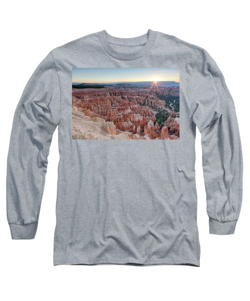 Inspiration Point Sunrise Bryce Canyon National Park Summer Solstice Long Sleeve T-Shirt