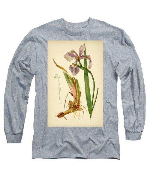 Iris Versicolor Blue Flag Long Sleeve T-Shirt