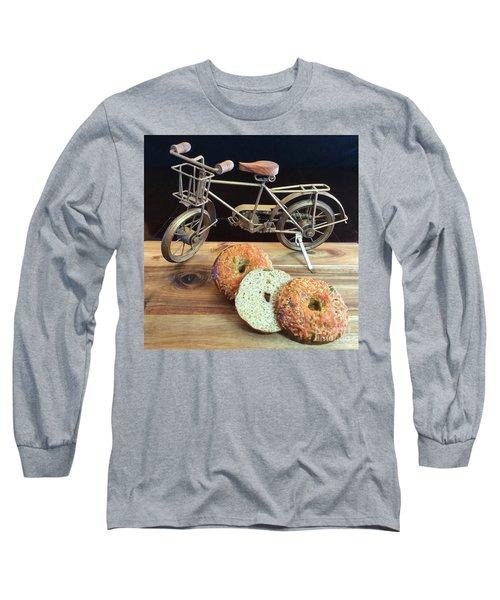 Jalapeno Cheddar Sourdough Bagels Long Sleeve T-Shirt