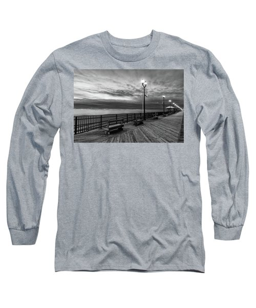 Jersey Shore In Winter Long Sleeve T-Shirt