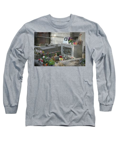 Long Sleeve T-Shirt featuring the photograph Jim Morrison's Grave by Jim Mathis