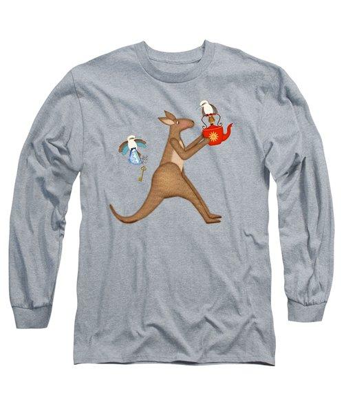 K Is For Kangaroo And Kookaburra Long Sleeve T-Shirt