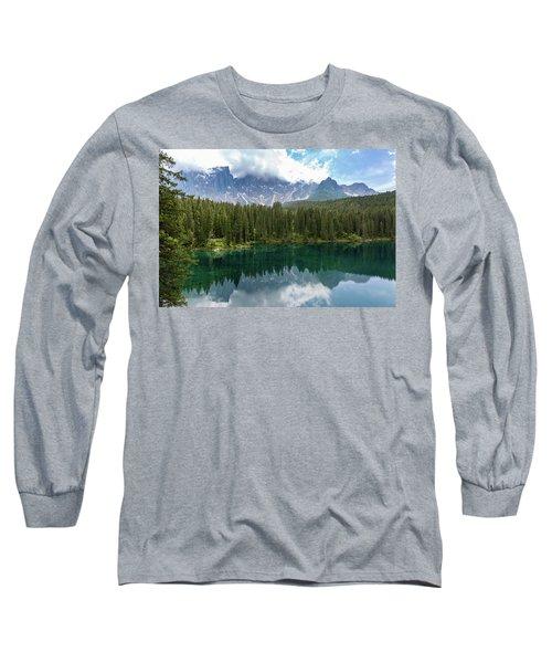 Karersee And Latemar Long Sleeve T-Shirt