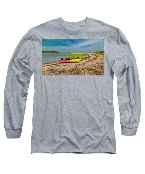 Kayaking Adventure In Maine Long Sleeve T-Shirt