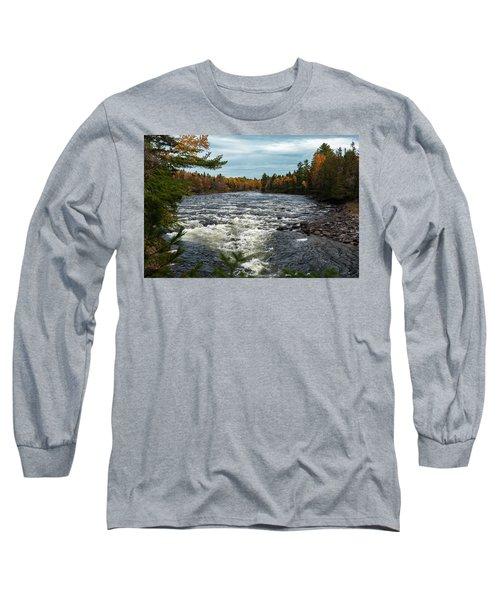 Long Sleeve T-Shirt featuring the photograph Kennebec River by Rick Hartigan