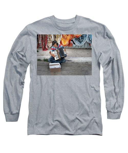 Kid Playing Accordeon Long Sleeve T-Shirt