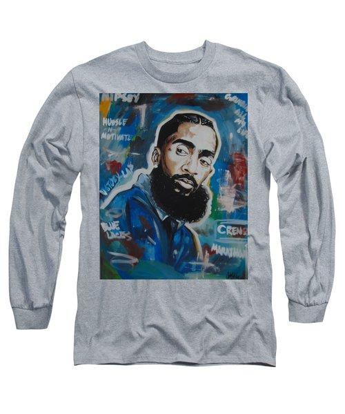 King Nipsey Long Sleeve T-Shirt