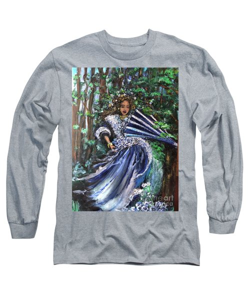 Lady In Forest Long Sleeve T-Shirt
