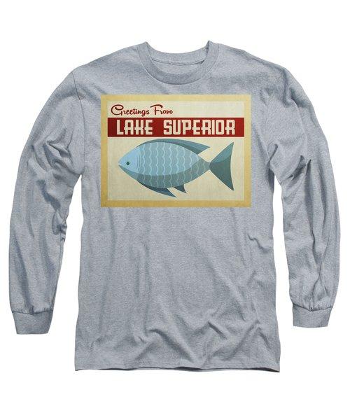 Lake Superior Blue Fish Long Sleeve T-Shirt