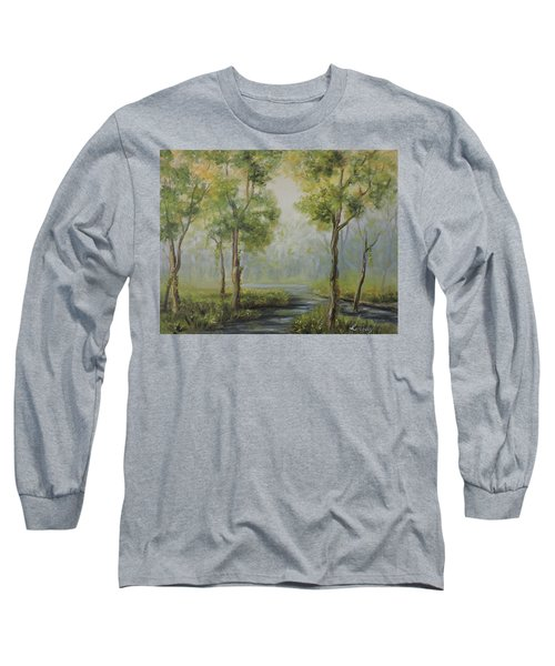 Landscape Of The Great Swamp Of New Jersey With Pond Long Sleeve T-Shirt