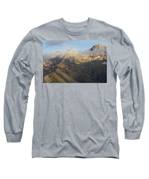 Late Evening Light On Pic De Marbore Long Sleeve T-Shirt
