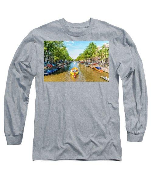 Lazy Sunday On The Canal Long Sleeve T-Shirt