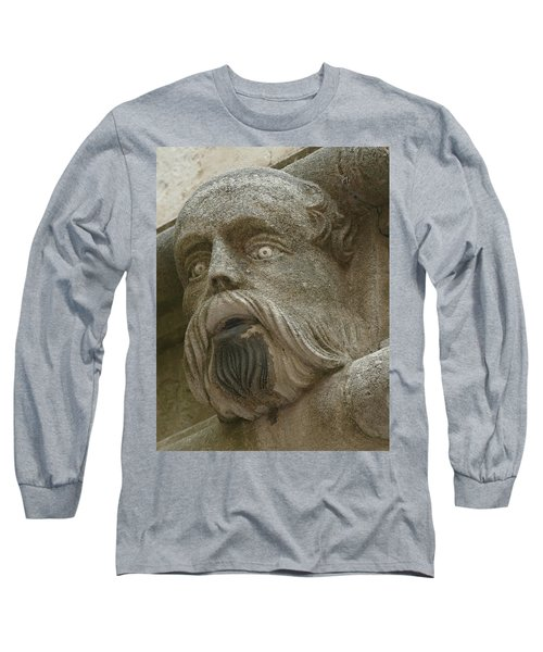 Life Sized Sculptures Of Human Heads Long Sleeve T-Shirt