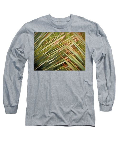 Long Sleeve T-Shirt featuring the mixed media Light Touch 12  by Lynda Lehmann