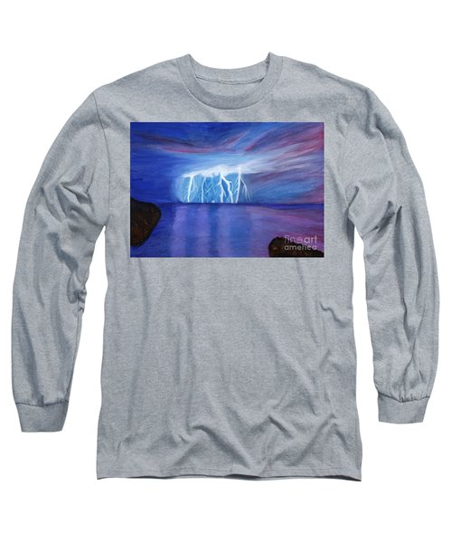 Lightning On The Sea At Night Long Sleeve T-Shirt