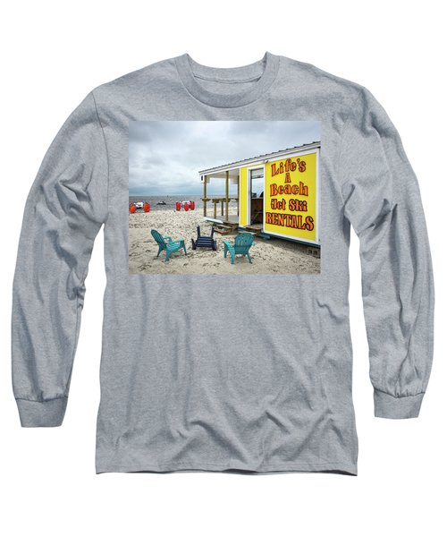 Long Sleeve T-Shirt featuring the photograph Like's A Beach by Jim Mathis