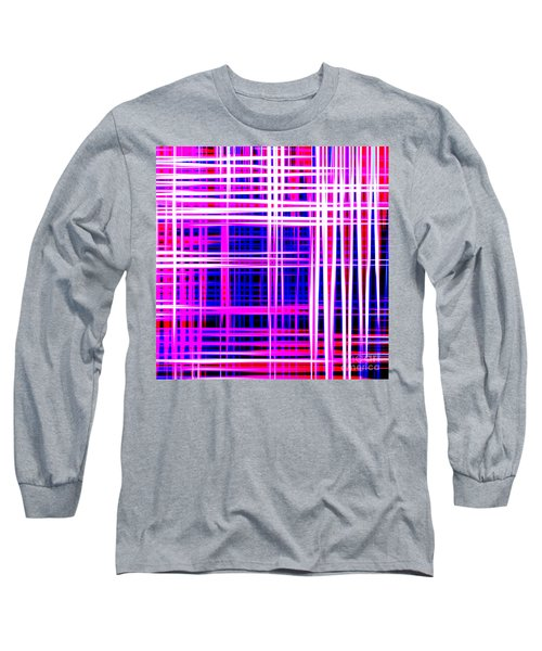 lines and squares in purple Color Waves - PL414 Long Sleeve T-Shirt
