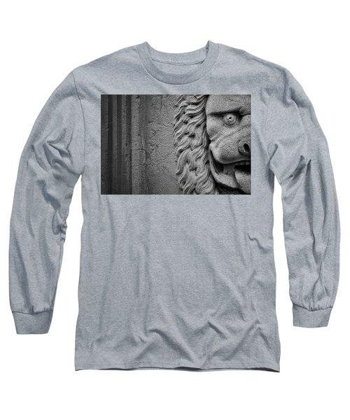 Lion Statue Portrait Long Sleeve T-Shirt
