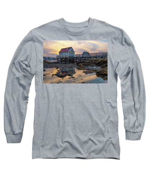 Low Tide Reflections, Badgers Island.  Long Sleeve T-Shirt