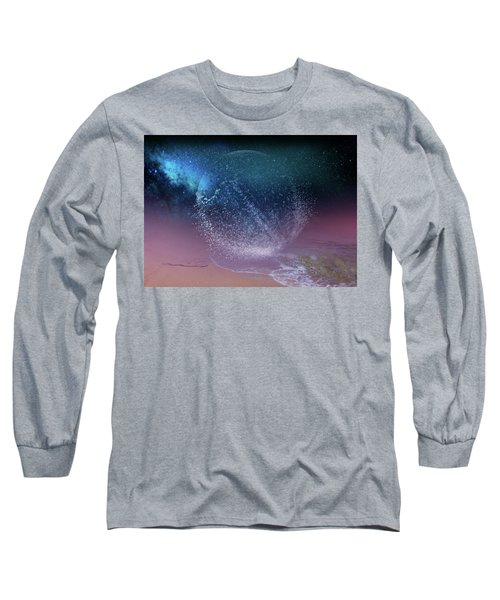 Magical Night Moment By The Seashore In Dreamland 3 Long Sleeve T-Shirt