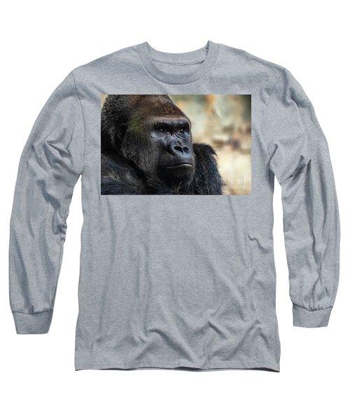 Male Western Gorilla Looking Around, Gorilla Gorilla Gorilla Long Sleeve T-Shirt