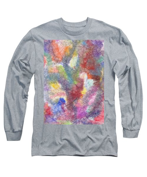 Marble Abstraction Long Sleeve T-Shirt