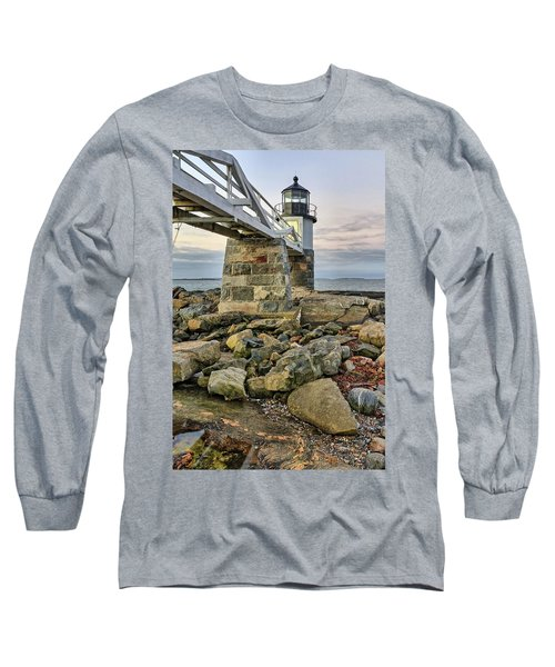 Marshall Point Light From The Rocks Long Sleeve T-Shirt