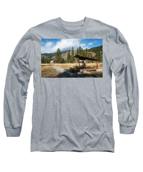 Mazama Barn Trail And Bench Long Sleeve T-Shirt