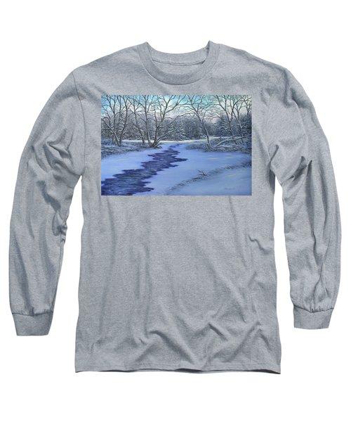 Millhaven Creek In Winter Long Sleeve T-Shirt