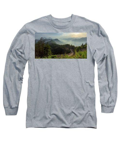 Misty Mountain Morning Long Sleeve T-Shirt