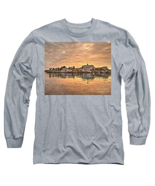 Monhegan Sunrise - Harbor View Long Sleeve T-Shirt